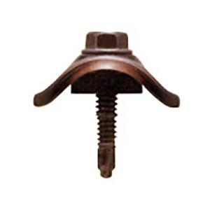 波板ビス ポリカ座ブロンズ ラスパートブロンズ 5×25 100本 鉄板小波用 鉄骨下地用 波板用 アMD|plusys