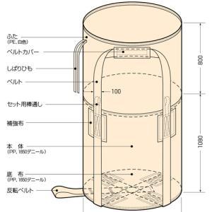 コンドーテック コンテナバッグ 丸型 KR-2-B 10枚入 【1トンバッグ フレコンバッグ】 コT【代引不可】|plusys