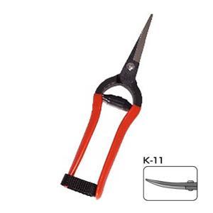 【20丁】 K-11 打物 芽切鋏 曲刃 鍛造品 小林製鋏 H plusys