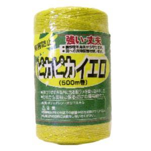 コンパル 防鳥糸 ピカピカイエロ 500m 【農作物の鳥害防止】 アサノヤ産業 PD|plusys