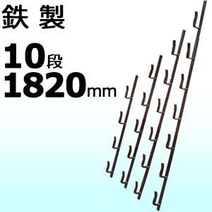 【1本】 納期3週間 冬囲い金物 十手型 10段 1820mm 鉄製 万能クリアガード対応 雪囲い アM【代引不可】|plusys