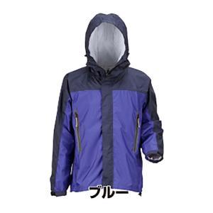 KJレインパーカ【ブルー LL】 7710 男女兼用 防寒 ジャンパー カジメイク カJ|plusys
