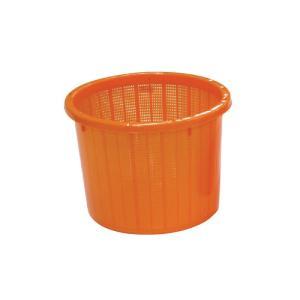 【10個】丸型 収穫かご オレンジ ベルト付 大 容量約 20L  安全興業 【代引不可】 個人店入れ|plusys