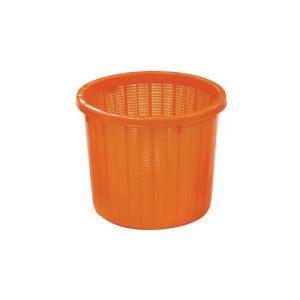 【16個】丸型 収穫かご オレンジ ベルト付 中 容量約 16L  安全興業 【代引不可】 個人店入れ|plusys