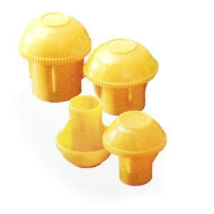 【200個】 キャッピカ 単管 先端キャップ 黄色 D19~25兼用 コT 【代引不可】|plusys