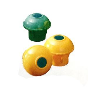 【200個】 キャッピカ 単管 先端キャップ D19~25兼用 黄色 先端シール付 コT 【代引不可】|plusys