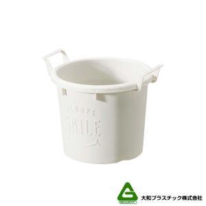 【120個】 グロウコンテナ 12型 ホワイト 大和プラスチック 0.6L 140×120×H112mm プランター 丸型 ポット 白 鉢 タ種 【代引不可】 plusys