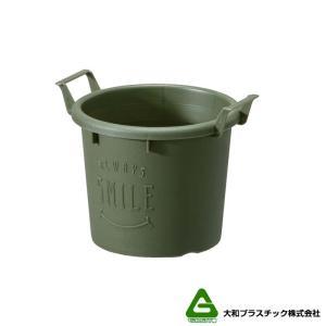 【120個】 グロウコンテナ 12型 グリーン 大和プラスチック 0.6L 140×120×H112mm プランター 丸型 ポット 緑 鉢 タ種 【代引不可】 plusys