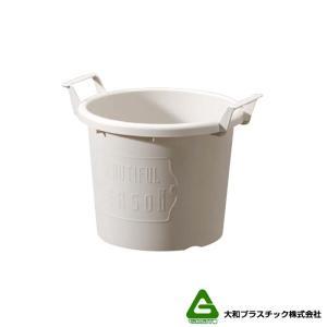 【40個】 グロウコンテナ 24型 ホワイト 大和プラスチック 5.5L 280×240×H216mm プランター 丸型 ポット 白 鉢 タ種 【代引不可】 plusys