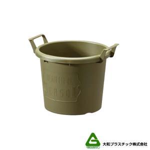 【40個】 グロウコンテナ 24型 グリーン 大和プラスチック 5.5L 280×240×H216mm プランター 丸型 ポット 緑 鉢 タ種 【代引不可】 plusys