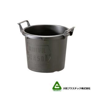 【40個】 グロウコンテナ 24型 ブラック 大和プラスチック 5.5L 280×240×H216mm プランター 丸型 ポット 黒 鉢 タ種 【代引不可】 plusys