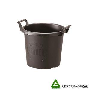 【20個】グロウコンテナ 30型 ブラック 大和プラスチック 11.0L 350×300×H287mm プランター 丸型 ポット 黒 鉢 タ種 【代引不可】 plusys