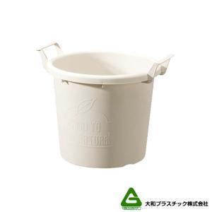 【20個】 グロウコンテナ 35型 ホワイト 大和プラスチック 18.0L 410×350×H335mm プランター 丸型 ポット 白 鉢 タ種 【代引不可】 plusys