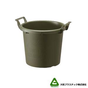 【20個】 グロウコンテナ 35型 グリーン 大和プラスチック 18.0L 410×350×H335mm プランター 丸型 ポット 緑 鉢 タ種 【代引不可】 plusys