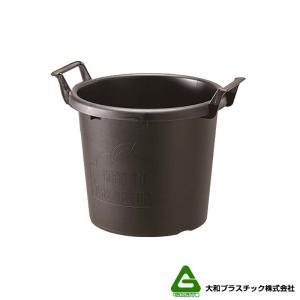 【20個】 グロウコンテナ 35型 ブラック 大和プラスチック 18.0L 410×350×H335mm プランター 丸型 ポット 黒 鉢 タ種 【代引不可】 plusys