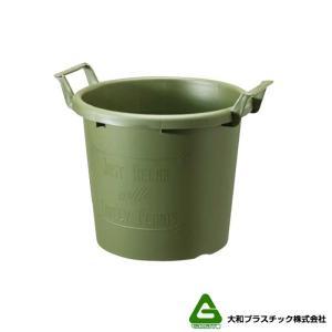 【12個】グロウコンテナ 40型 グリーン 大和プラスチック 27.0L 470×400×H383mm プランター 丸型 ポット 緑 鉢 タ種 【代引不可】 plusys