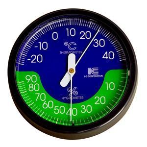 温湿度計 サーモ420 直径100mmA アイシー 金TD|plusys