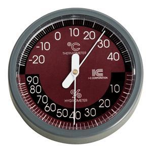 温湿度計 サーモ421 直径100mmB アイシー 金TD|plusys