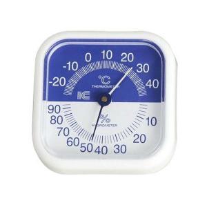 スクウェア80温湿度計 サーモ440 (ブルー) アイシー 金TD|plusys