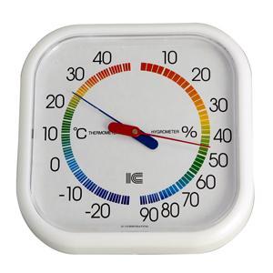 温湿度計 サーモ430 スクエア130 アイシー 金TD|plusys