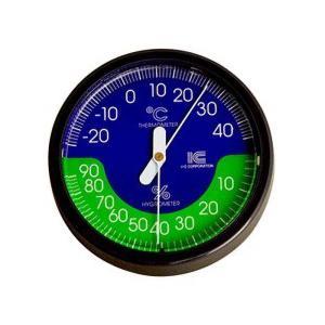 温湿度計 サーモ470 直径65mm アイシー 金TD|plusys