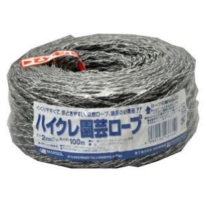 MARSOL ハイクレ園芸ロープ 太さ2mm 長さ100m グレー×白 金TD|plusys