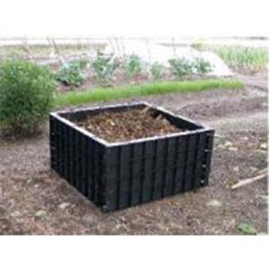 堆肥枠 容量200L S-07 79×79×高さ40cm サンポリ【代引不可】|plusys
