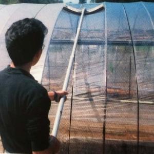 ソフトクリヤー ビニールハウス 農ビ 農PO の 竿付き 洗浄ブラシ 槍木産業 うつぎ産業 カ施【代引不可】|plusys
