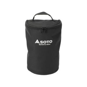 収納、持ち運びに便利! 予備のマントルなどを収納できるポケット付。  ※本製品はSOTO虫の寄りにく...