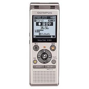【在庫目安:あり】OLYMPUS  V-863 GLD ICレコーダー Voice-Trek (シャンパンゴールド)|plusyu