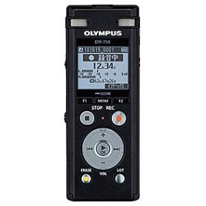 【在庫目安:あり】OLYMPUS  DM-750 BLK ICレコーダー Voice-Trek (ブラック)|plusyu