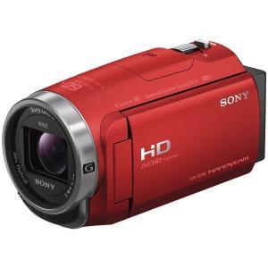 【在庫目安:僅少】SONY  HDR-CX680/R デジタルHDビデオカメラレコーダー Handycam CX680 レッド plusyu