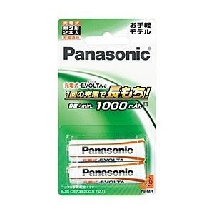 【在庫目安:お取り寄せ】Panasonic  BK-3LLB/2B 充電式エボルタ 単3形 2本パック(お手軽モデル)