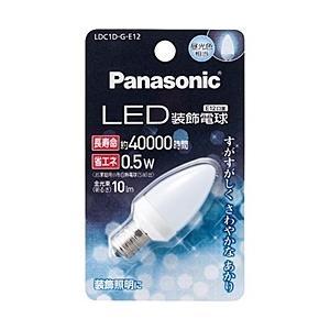 【在庫目安:お取り寄せ】Panasonic  LDC1DGE12 LED装飾電球 0.5W (昼光色相当) plusyu