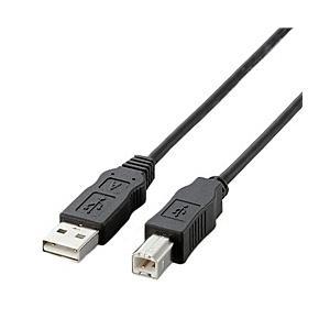 【在庫目安:あり】ELECOM  USB2-ECO10 EU ABタイプ/ RoHS指令準拠USBケーブル ABタイプ/ 1.0m(ブラック)|plusyu