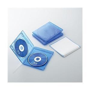 【在庫目安:お取り寄せ】ELECOM  CCD-BLU203CBU Blu-rayディスクケース(2枚収納タイプ、3枚セット) クリアブルー|plusyu