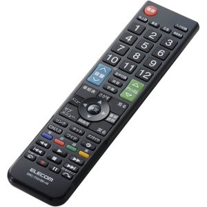 【在庫目安:お取り寄せ】ELECOM  ERC-TV01BK-HI かんたんTVリモコン/ 日立・Wooo用/ ブラック|plusyu