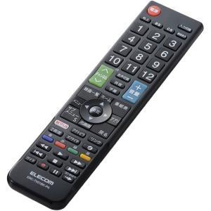 【在庫目安:お取り寄せ】ELECOM  ERC-TV01BK-PA かんたんTVリモコン/ パナソニック・ビエラ用/ ブラック|plusyu