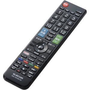 【在庫目安:お取り寄せ】ELECOM  ERC-TV01BK-SH かんたんTVリモコン/ シャープ・アクオス用/ ブラック|plusyu