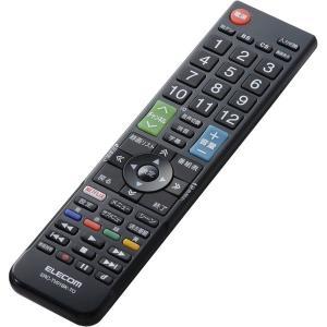 【在庫目安:お取り寄せ】ELECOM  ERC-TV01BK-TO かんたんTVリモコン/ 東芝・レグザ用/ ブラック|plusyu