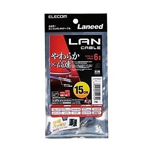 【在庫目安:僅少】ELECOM  LD-GPY/BU015 やわらかLANケーブル/ CAT6/ 0.15m/ ブルー|plusyu