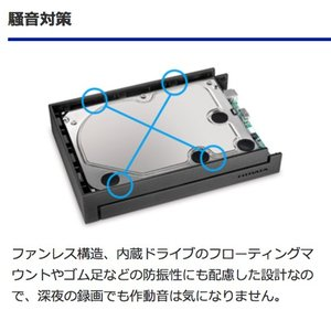 【在庫目安:あり】 テレビ録画対応 外付けHDD 3TB EX-HD3CZ アイ・オー・データ(IODATA) (WEB限定モデル) plusyu 03