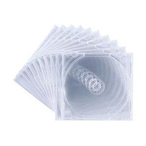 【在庫目安:お取り寄せ】サンワサプライ  FCD-PN10C DVD・CDケース(10枚セット・クリア)|plusyu