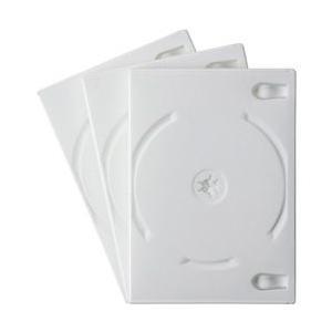 【在庫目安:お取り寄せ】サンワサプライ  DVD-TN4-03W DVDトールケース(4枚収納・3枚パック・ホワイト)|plusyu