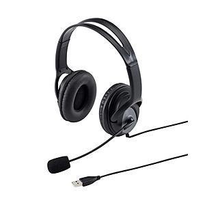 【在庫目安:お取り寄せ】 サンワサプライ MM-HSUSB17BK USBヘッドセット(ブラック)
