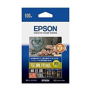 【在庫目安:僅少】EPSON  KL100MSHR 写真用紙<絹目調> (L判/ 100枚)