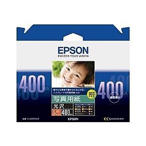 【在庫目安:あり】EPSON  KL400PSKR 写真用紙<光沢> (L判/ 400枚) plusyu