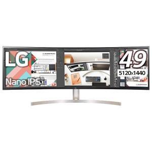 【在庫目安:僅少】 LG電子 49WL95C-W 49型デュアルQHD対応ウルトラワイド液晶ディスプレイ(IPS/ 5120×1440/ 3800R/ HDR10/ sRGB99%/ LED/ ブルー…|plusyu