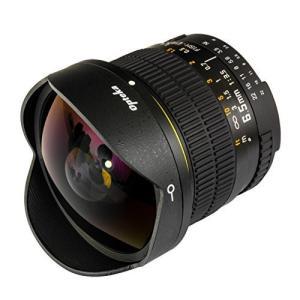 Opteka 6.5mm 魚眼レンズは、 180°視野の魚眼により、誇張された遠近感や味わいある歪み...