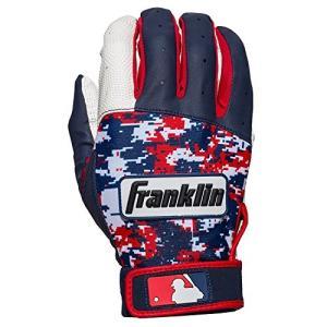 サイズM Franklin フランクリン バッティンググローブ DIGITEK 白 ネイビー 赤 野球 手袋 両手用 [並行輸入品]